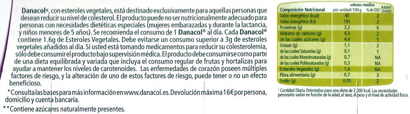 Ingredientes del Danacol