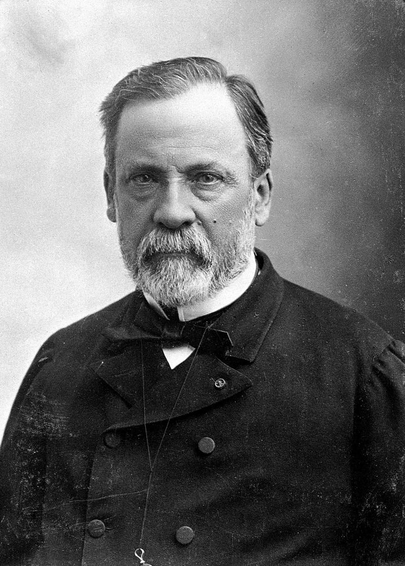 "Louis Pasteur (1822-1895). <a href=""https://wellcomecollection.org/works/gvcbrvdp"" target=""_blank""><em>Wellcome Library.</em></a>"