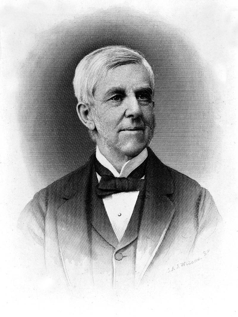"Oliver Wendell Holmes (1809-1894). <a href=""https://wellcomecollection.org/works/w8njjb7u"" target=""_blank""><em>Wellcome Collection.</em></a>"