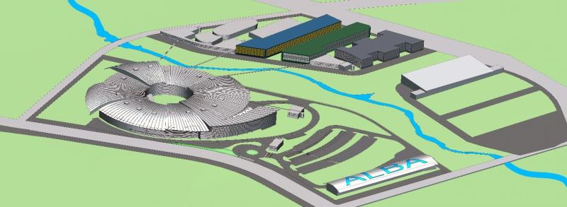 Proyección 3D de ASTIP (ALBA Science, Technology and Innovation Park).